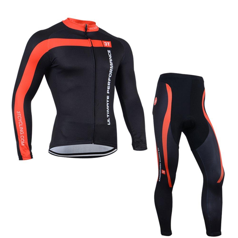 メンズMTBバイク長袖サイクリングジャージーとパンツスーツ B0779R18YY X-Large(Chest 44.5'')Thermal Suit|Suit 4 Suit 4 X-Large(Chest 44.5'')Thermal Suit
