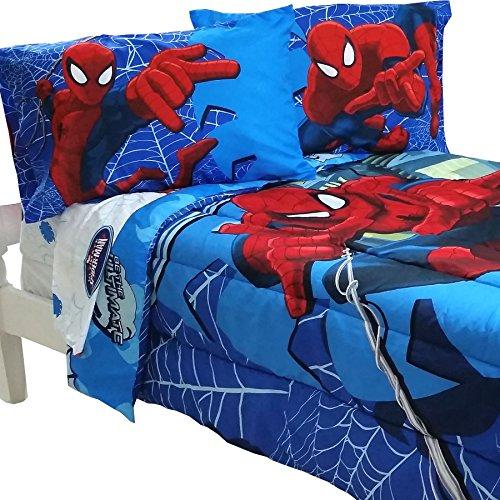 5pc Marvel Comics Spider-Man Full Bedding Set Spidey Astonish Comforter and Sheet Set