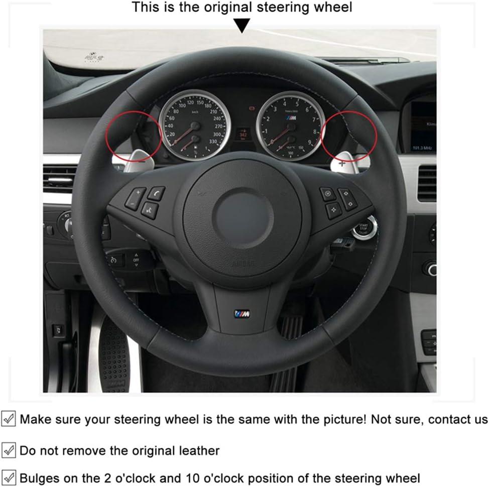 YJLC F/ür Hand N/ähen Auto Lenkradbezug F/ür BMW E60 M5 2005 2008 E63 E64 Cabrio M6 2005 2010