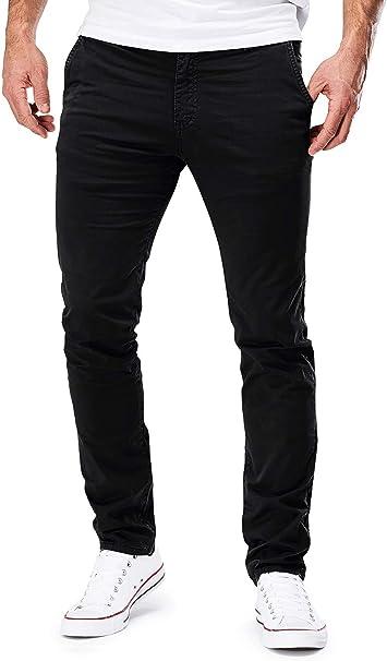 Elara Herren Jeans Slim Fit Hose Denim Stretch Chunkyrayan
