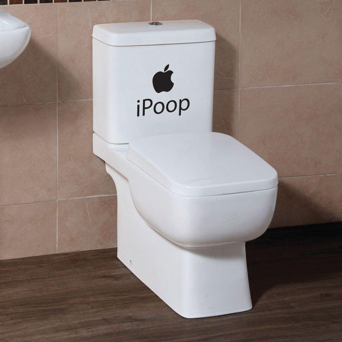 iPoop Toilet Seat Bathroom Decals Stickers PC Car Moto Decals Apple Funny  Joke  Amazon co uk  Kitchen   Home. iPoop Toilet Seat Bathroom Decals Stickers PC Car Moto Decals