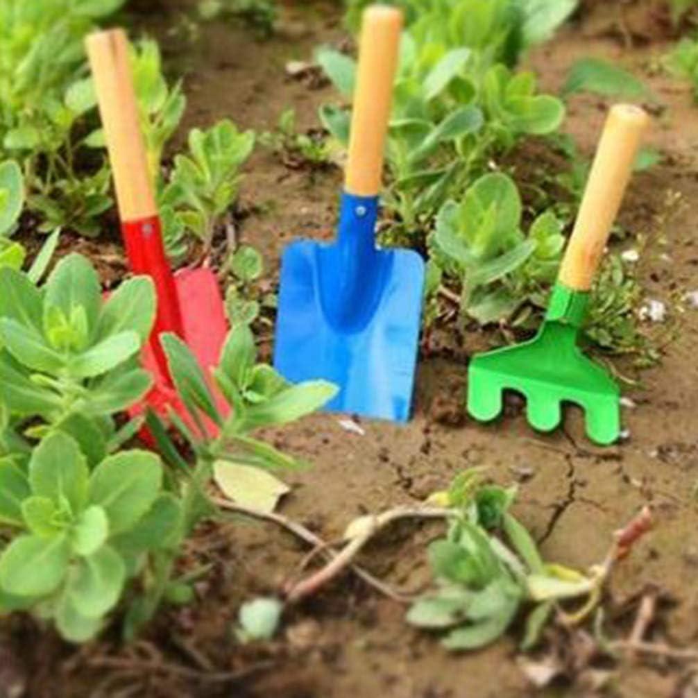 Couleur Al/éatoire Toyvian 3 Pcs Mini Outils de Jardin Fer Pelle Truelle R/âteau Enfants Jardin Ensemble Doutils Jouet Miniature F/ée Jardin Kit pour Enfant Fille Enfants