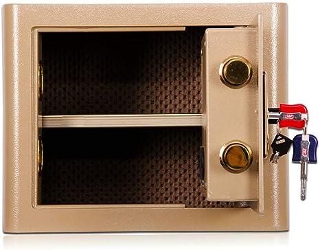 HYYQG Caja Fuerte Portatil - Caja De Seguridad Fuertes Cajas De Seguridad Money Box Seguridad para El Hogar Caja De Seguridad Digital Caja Fuerte De AleacióN Acero Incluye Llaves, Gold: Amazon.es: Deportes