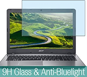 """Synvy Anti Blue Light Tempered Glass Screen Protector for Acer Aspire F Series F5-573-H78G / S 15.6"""" Visible Area 9H Protective Screen Film Protectors"""