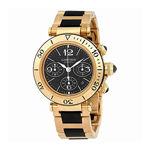 a7a6970e46b2 Image Unavailable. Image not available for. Color  Cartier Pasha Seatimer  Mens Watch W301970M