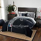 Northwest NOR-1MLB836000010BBB 76 x 86 Chicago White Sox MLB Full Comforter Set, Soft & Cozy