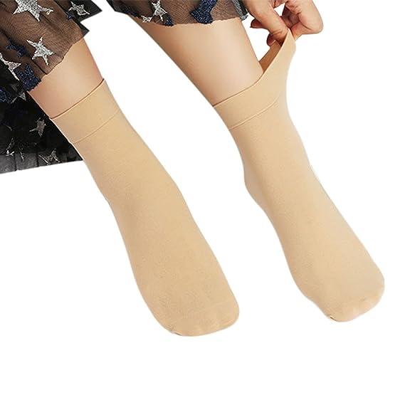 OHQ calcetines Calcetines Seda EláSticos SóLidos De Moda De Mujer Medias Calcetines Altos: Amazon.es: Ropa y accesorios