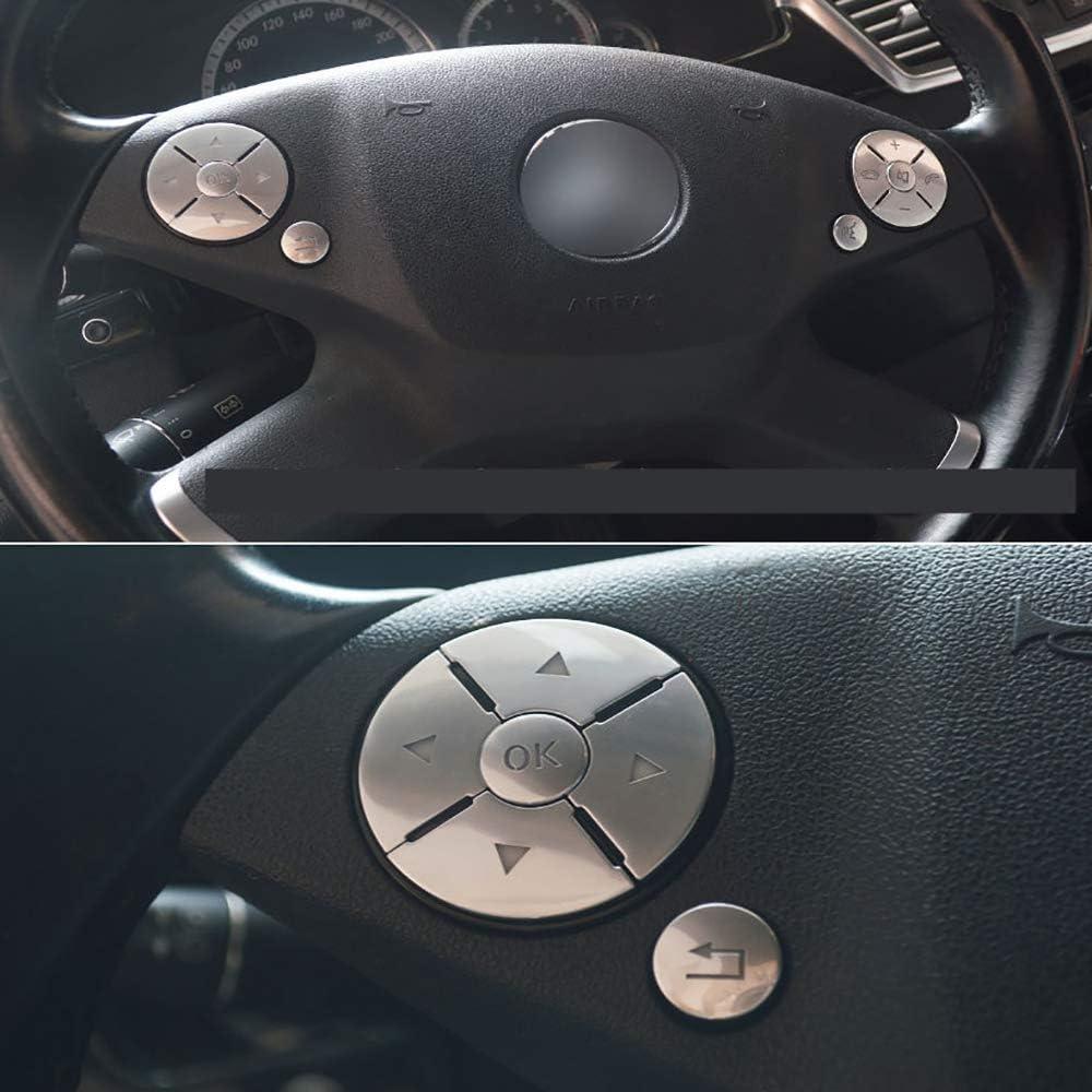 Yaootely Auto Innen Lenkrad Knopf Schalter Ordnung Abdeckung Aufkleber f/ür Mercedes CES Klasse W204 W212 W221 GLK X204 C200 C250