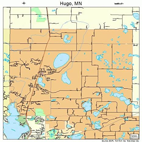 Hugo Minnesota Map.Amazon Com Large Street Road Map Of Hugo Minnesota Mn Printed