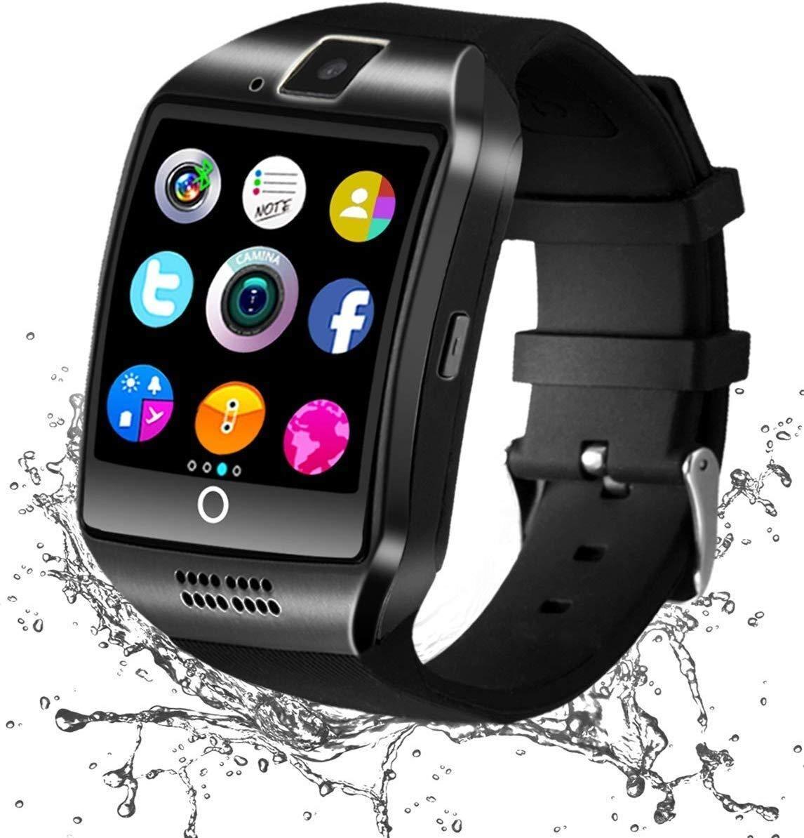 Smartwatch Bluetooth, Reloj Inteligente y Ranura para Tarjeta SIM con Rastreador de Actividad, Podómetro, Cronómetros Reloj de Fitness, Reloj ...