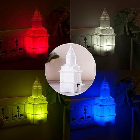 Rameng De Murale Veilleuse Led Changement Chapelle Créatif Lampe 7 Chevet Couleur Applique PXZikuO