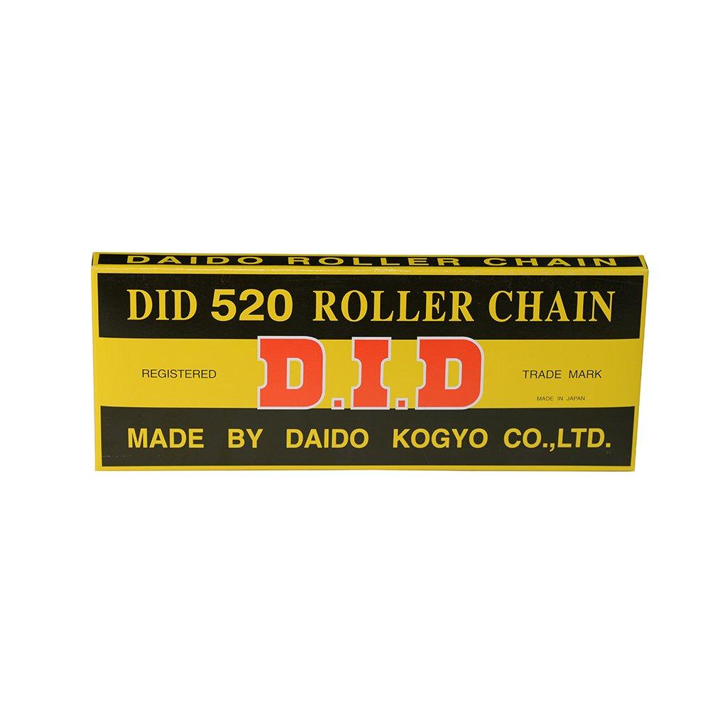 Chaîne moto DID 520 116 maillons, avec attache à clips avec attache à clips D.I.D.