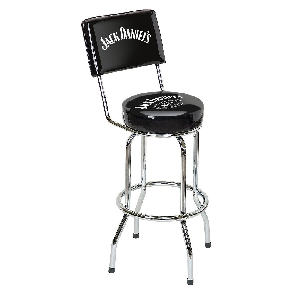 Marvelous Jack Daniels Swivel Bar Stool With Backrest Black Gmtry Best Dining Table And Chair Ideas Images Gmtryco