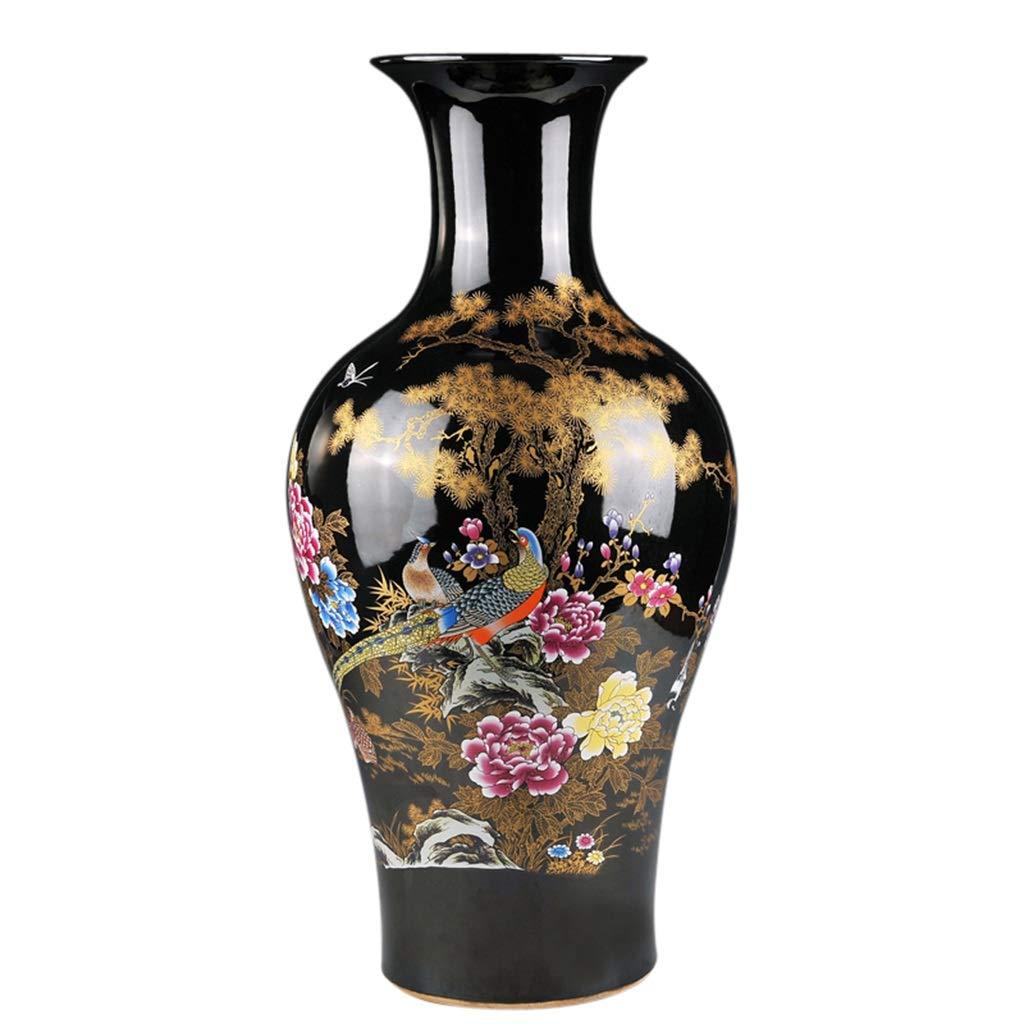 セラミック床大型花瓶フィッシュテール型花瓶現代ヨーロッパスタイルのリビングルームの装飾飾り B07RWHY8VC