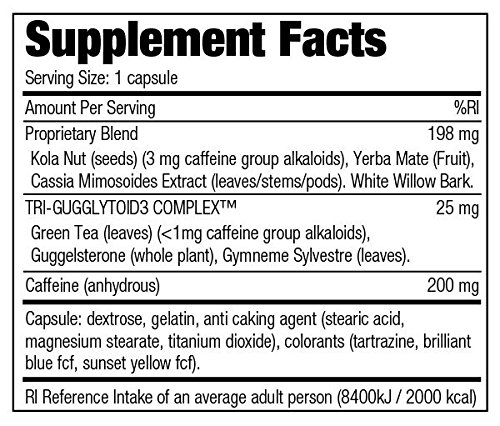 Stacker 2 Fat Burner Capsules, Ephedra Free, 100 Count Bottle