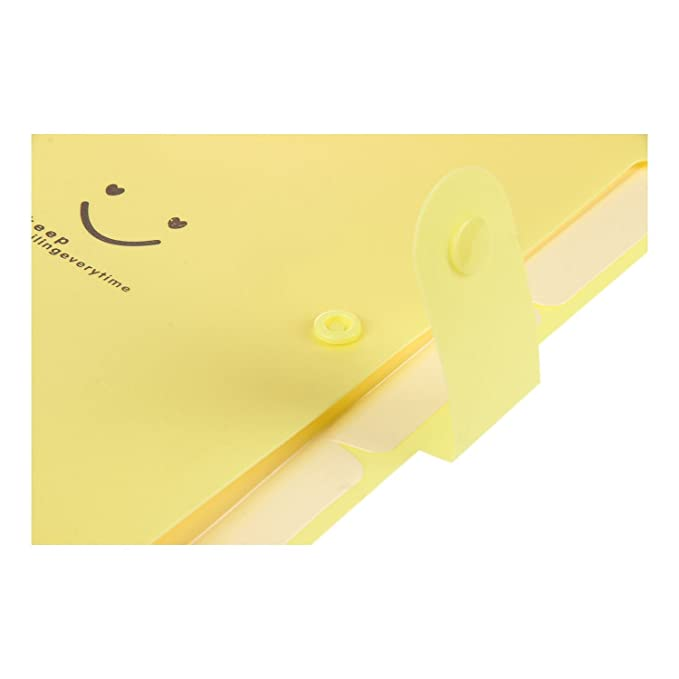 Amazon.com : SODIAL(R) Kawaii FoldersStationery Carpeta File Folder 5layers Archivadores Rings A4 Document Bag Office Carpetas£¨Yellow£ : Office Products
