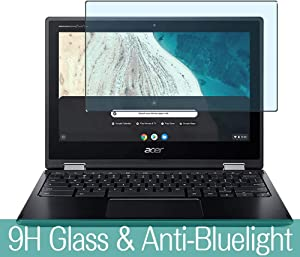 "Synvy Anti Blue Light Tempered Glass Screen Protector Compatible with Acer Chromebook Spin 511 R752TN-G2 11.6"" Visible Area 9H Protective Screen Film Protectors (Not Full Coverage)"