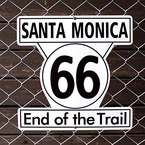 アメリカンスティールサイン「Santa Monica 66」 RT-011 /サンタモニカ/ルート66/メタルサイン看板/アメリカン雑貨/ B01E34YHGQ