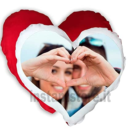 Cojín personalizado con fotos a forma de corazón Impresión ...