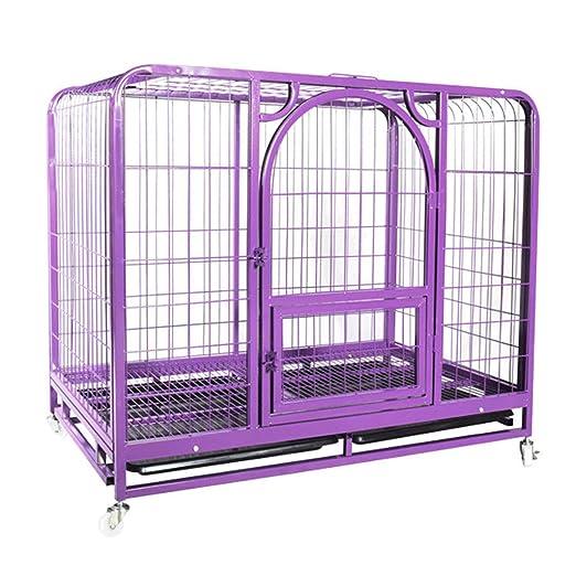 LTLJX Jaulas para Perros Deluxe Metálica Perrera Exterior Animales ...