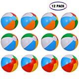 "Inflatable Beach Balls[12PACK] 10"" Rainbow Beach"