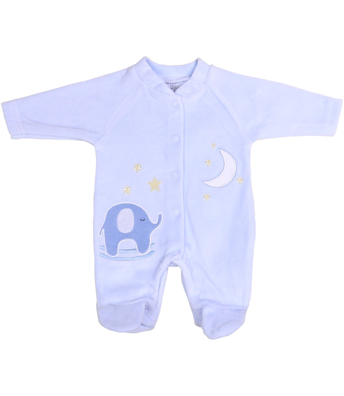 Babyprem Premature Tiny Sleepsuit Baby Boy Girl Pink Blue Elephant Velour Clothes SLD134