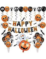 Sunshine smile Halloween decoratieve ballonnen, Halloween slinger banner, pompoen folie ballonnen, Halloween decoratie ballonnen, Halloween decoratie ballonnen, Halloween decoratie set