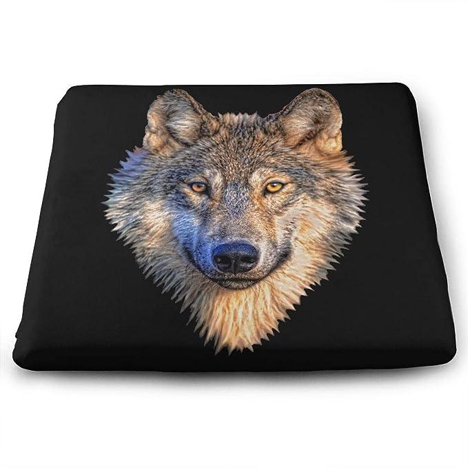 Amazon.com: Cojín de asiento para silla de oficina, Big Wolf ...