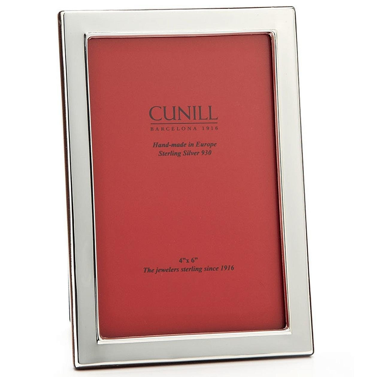Cunill Silver Contemporary Plain Frame for 4 by 6-Inch Photograph, Sterling Silver