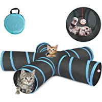 Tobeape® Cat Tunnel Toy 5 Way, Collapsible Pet Play Tunnel Tube with Storage Bag for Cats, Puppy, Rabbits, Guinea Pig…