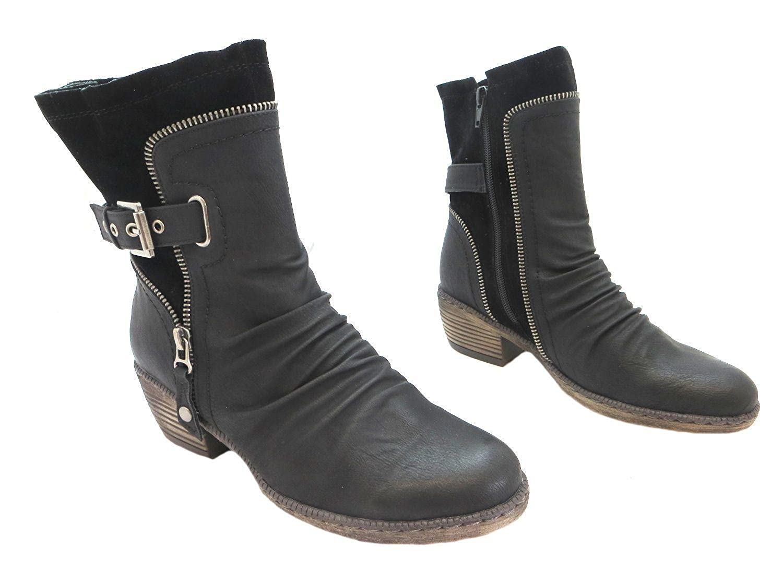 Rieker Women's 93761 01 synthetischen halbhohe Stiefel