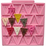 BABY SHOWER BUNTING FLAGS Party 3D Silicone Mould Fondant Cake Decorate Topper