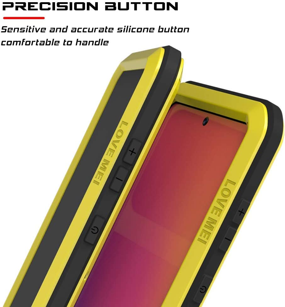 Lovemei Galaxy A71 Case,Fully Body Protection Armor Tank Aluminum Metal Gorilla Glass Shockproof Military Heavy Duty Sturdy Protector Cover Hard Case for Samsung Galaxy A71 Black