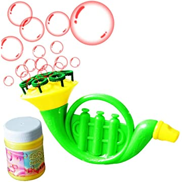 Goodfans Children Water Blowing Toy Horn Shape Bubble Blowing Toy Kids Gifts Bubbles