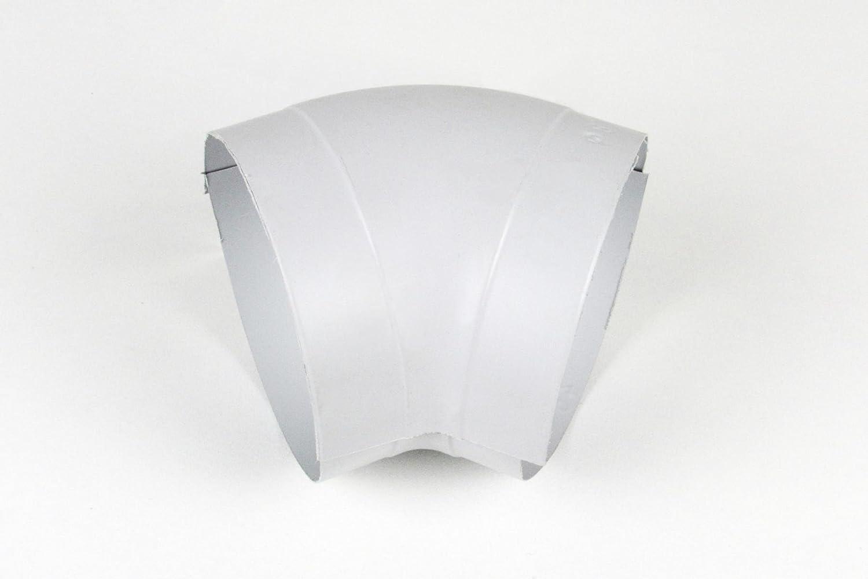 1 St/ück PVC-Bogen in 45/°-Ausf/ührung von Okapak in hellgrau in verschiedenen Varianten 18-22//20//45/° D=62mm