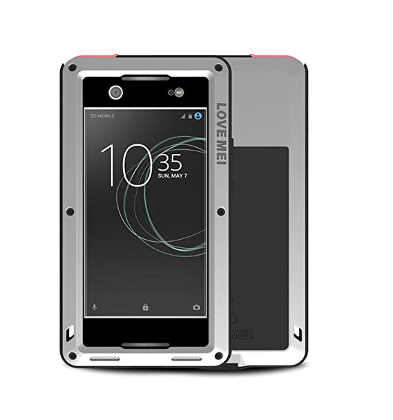 brand new b81d9 1cc34 SONY Xperia XA1 Ultra Case , Bpowe Armor Tank Aluminum Metal Gorilla Glass  Shockproof Military Heavy Duty sturdy Protector Cover Hard Case for SONY ...