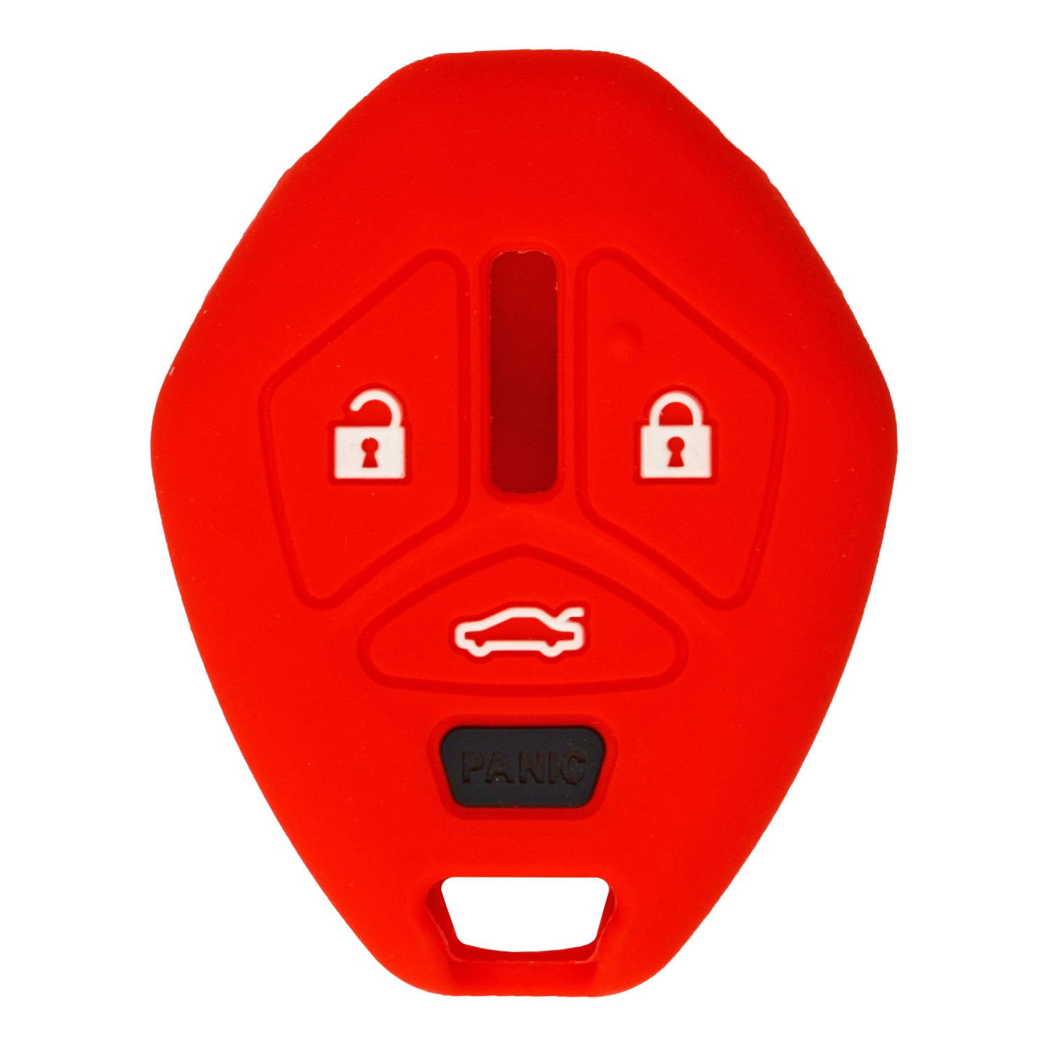 OUCG8D-620M-A OUCG8D-625M-A with Keytag Return qualitykeylessplus Rubber Silicone Protective Cover for 4 Button Mitsubishi Remote Head Keys with FCC ID Red