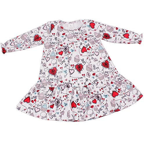 Little Kisses Baby Wash - Yliyang Baby Girls Valentine's Day Kiss Heart Print Dress Birthday Party Floral Girl Dress 4T