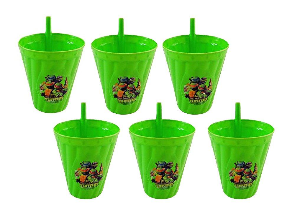 6パックTeenage Mutant Ninja Turtles再利用可能な13oz Sipper TumblerカップBPAフリー、   B073XN2RZG