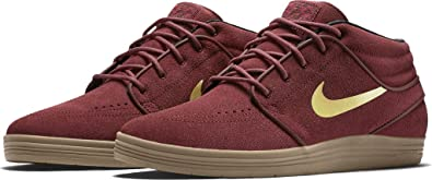 lowest price f0a4b 44eec Nike SB Lunar Janoski Mid Team Red Metalic Gold-White 8