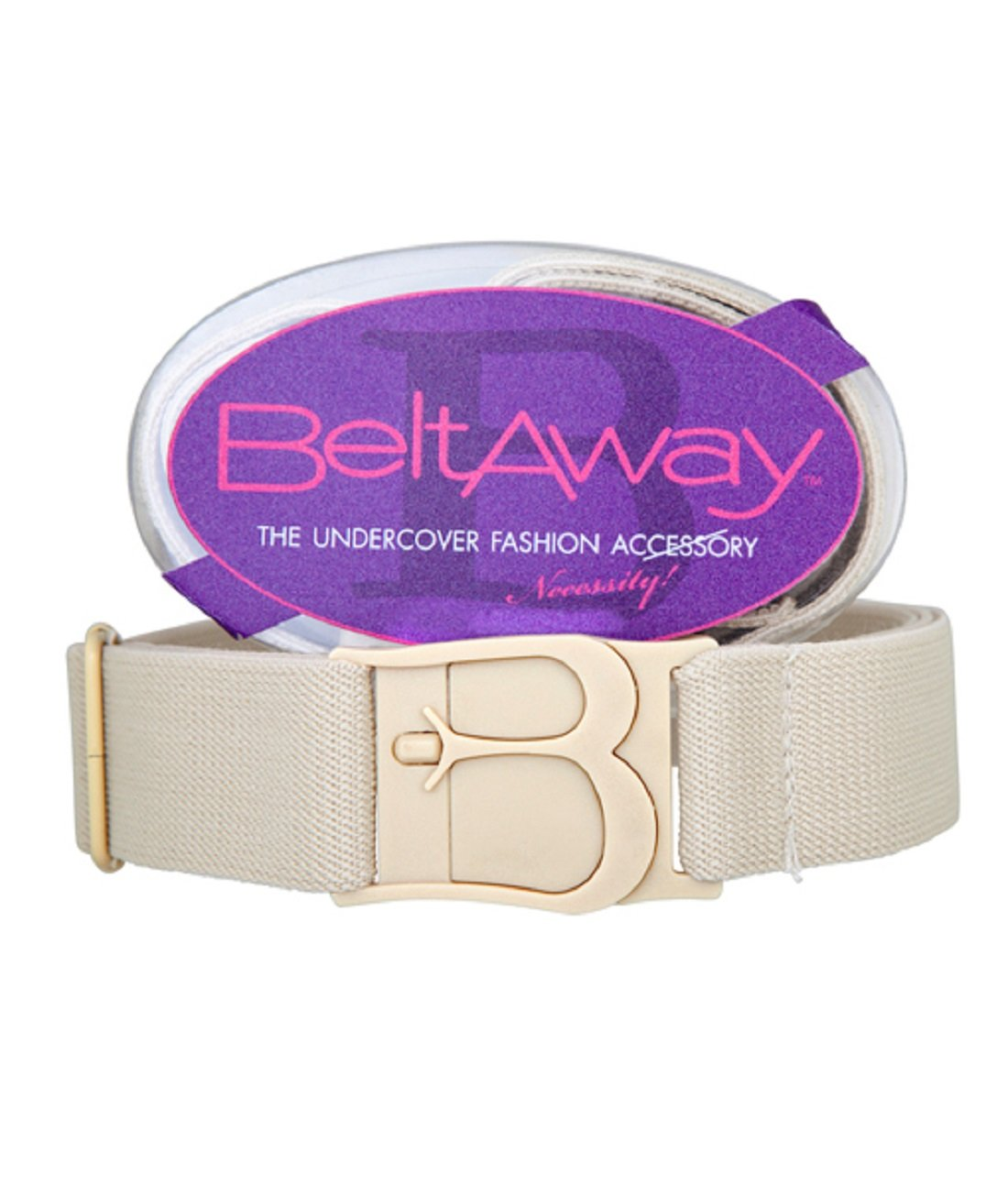 Beltaway Women's Plus Size Flat Buckle Belt One Size (16-4X) (Sand)