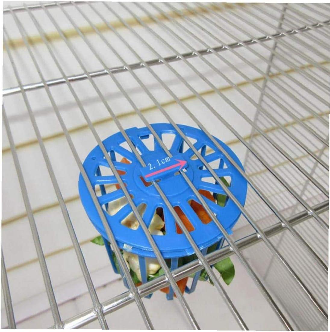CULER 1 Pc Bird Feeder Cage Fruit Vegetable Holder Hanging Basket Container Toys for Parrot Pet Bird