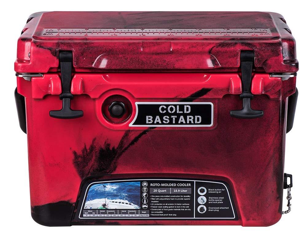 Amazon.com: 20 QT CAMO rojo frío Bastard serie resistente ...