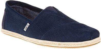 08d3295dd8683 TOMS Classic Navy Linen Rope Canvas Espadrilles Shoes Slipons