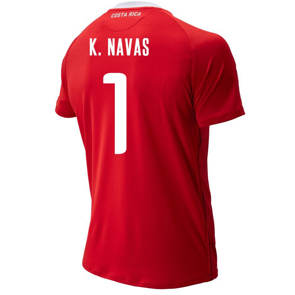newest a9d4a b22d6 Amazon.com : New Balance K. NAVAS #1 Costa Rica Home Soccer ...