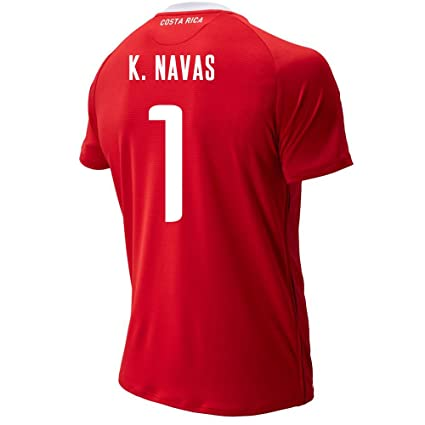 01209db7857 New Balance K. NAVAS #1 Costa Rica Home Soccer Men's Jersey FIFA World Cup