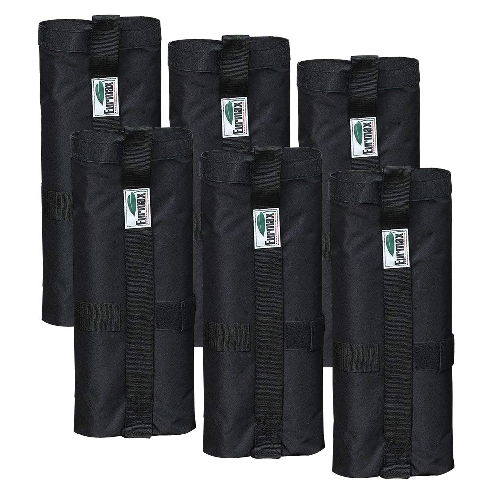 Eurmax New Weight Bags for Pop up Canopy Instant Shelter, Sand Bags, Leg Weights for Pop up Canopy Weighted Feet Bag Sand Bag, Set of 6 by Eurmax (Image #1)