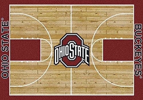 Ohio State Buckeyes College Basketball 5x7 Rug from Miliken (State Basketball Rugs)