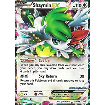 Pokemon Single Card Xy Roaring Skies 077108 Shaymin Ex