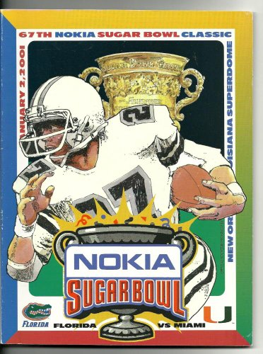 2001 Sugar Bowl Game Program Florida Miami vs. Miami Hurricanes - 2001 Miami Hurricanes Football